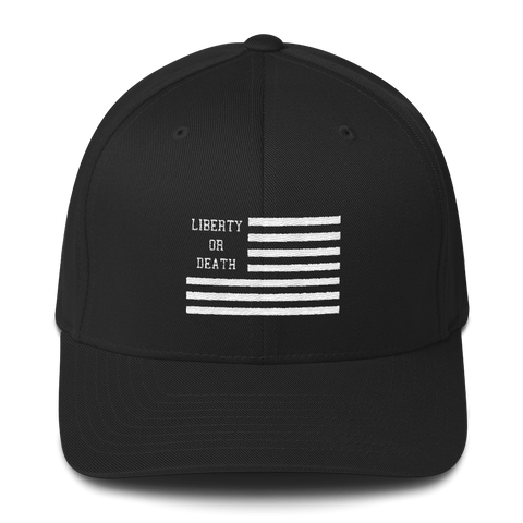 Liberty or Death Project Classic Hat V2 black front