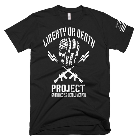 Liberty or Death Project Ban Ignorance Tee V2 black