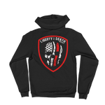 Liberty or Death Project Skullmerica Red Line Hoodie back