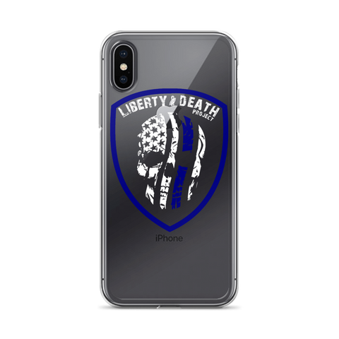 Skullmerica Blue Line iPhone Case - Liberty or Death Project