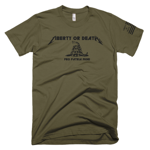 Liberty or Death Project Pro Patria Mori Black Ops tee