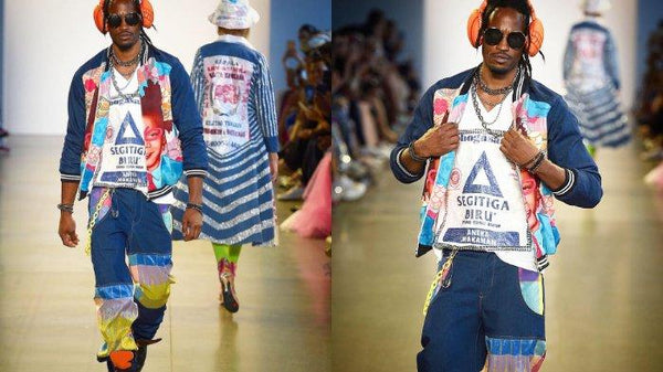 New York Fashion Week 2019 : Desainer Indonesia Bawa Kaus Berlogo Segitiga Biru