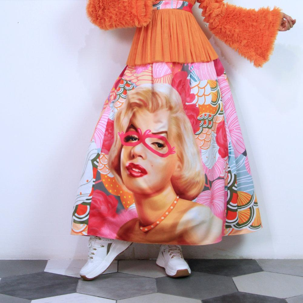 Fancy Ball Long Skirt With Recharging Marilyn-2MADISONAVENUE.COM (4341854371863)