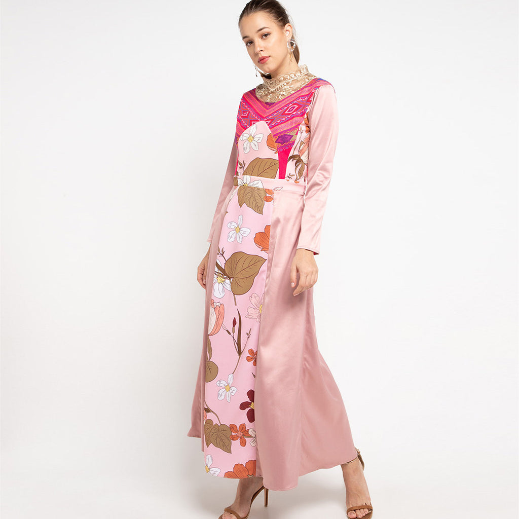 Magdalena Long Dress In Surprise Sunrise Dusty-2MADISONAVENUE.COM