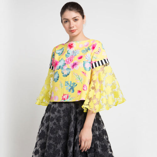 Sahara Fancy Top in Yellow Bliss-2Madison Avenue Indonesia