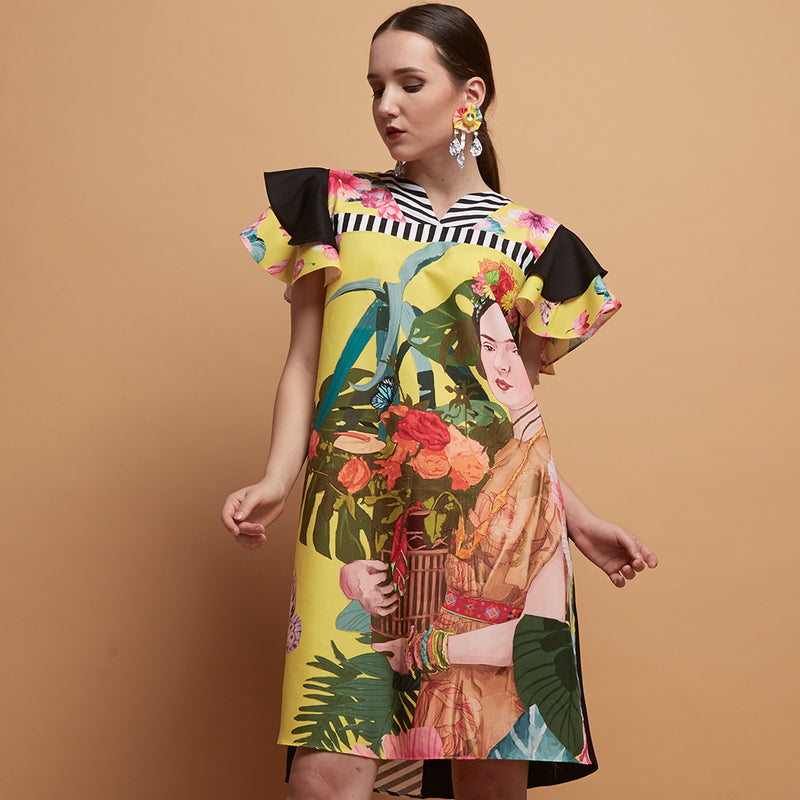 Tango Dress With Yellow Bliss-2Madison Avenue Indonesia