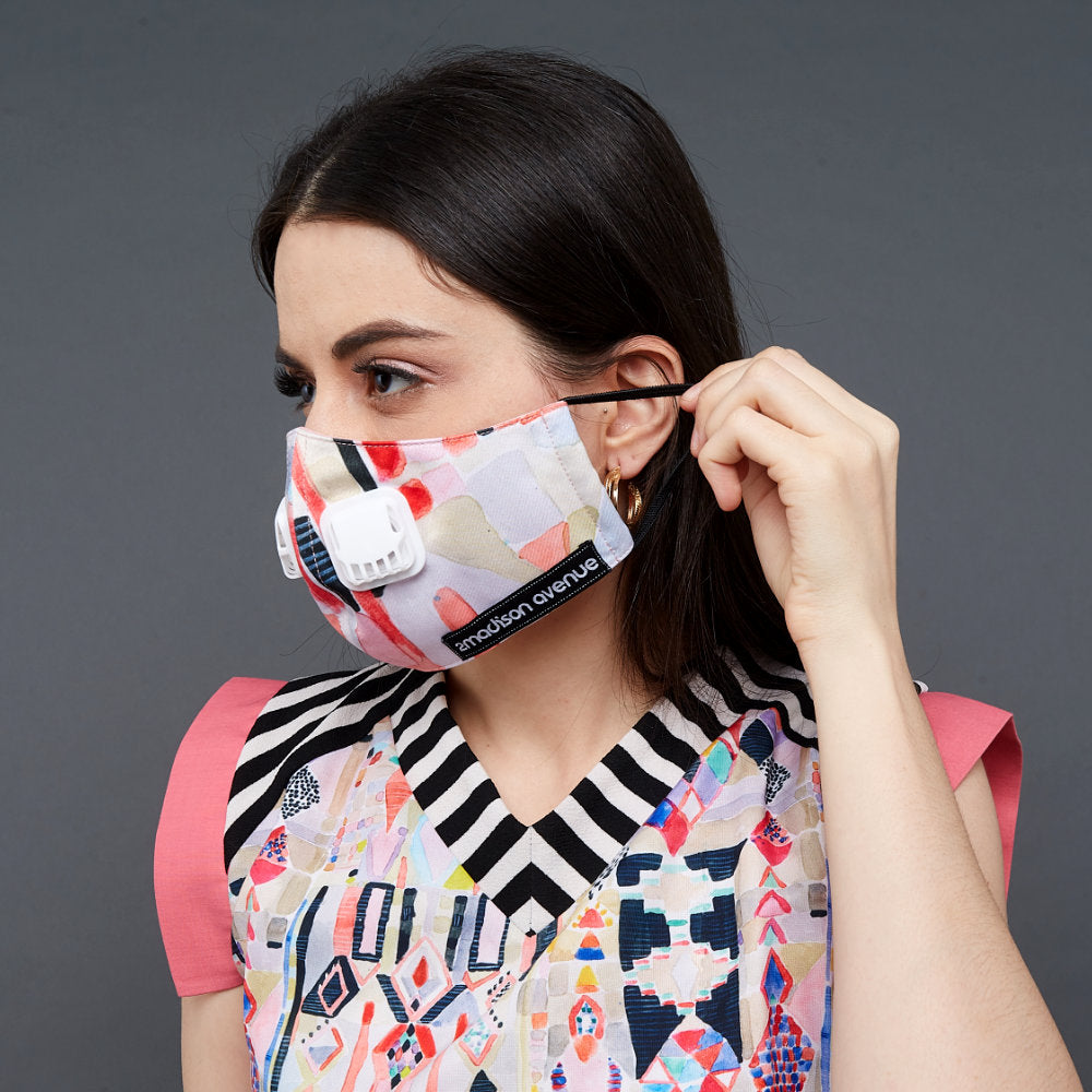 Abstraction Facemask With Air Valve