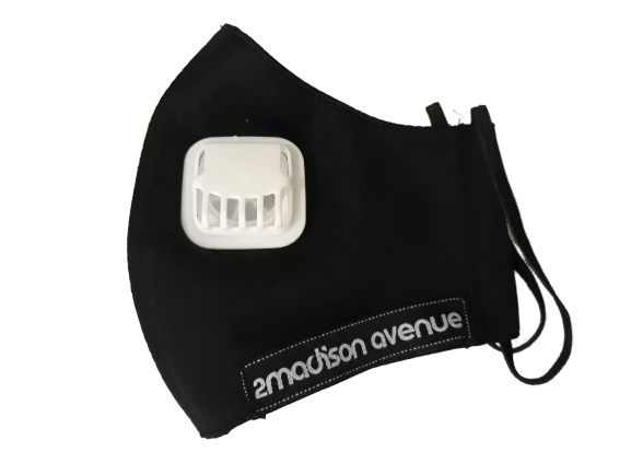 Polka Small Facemask With Air Valve-2MADISONAVENUE.COM
