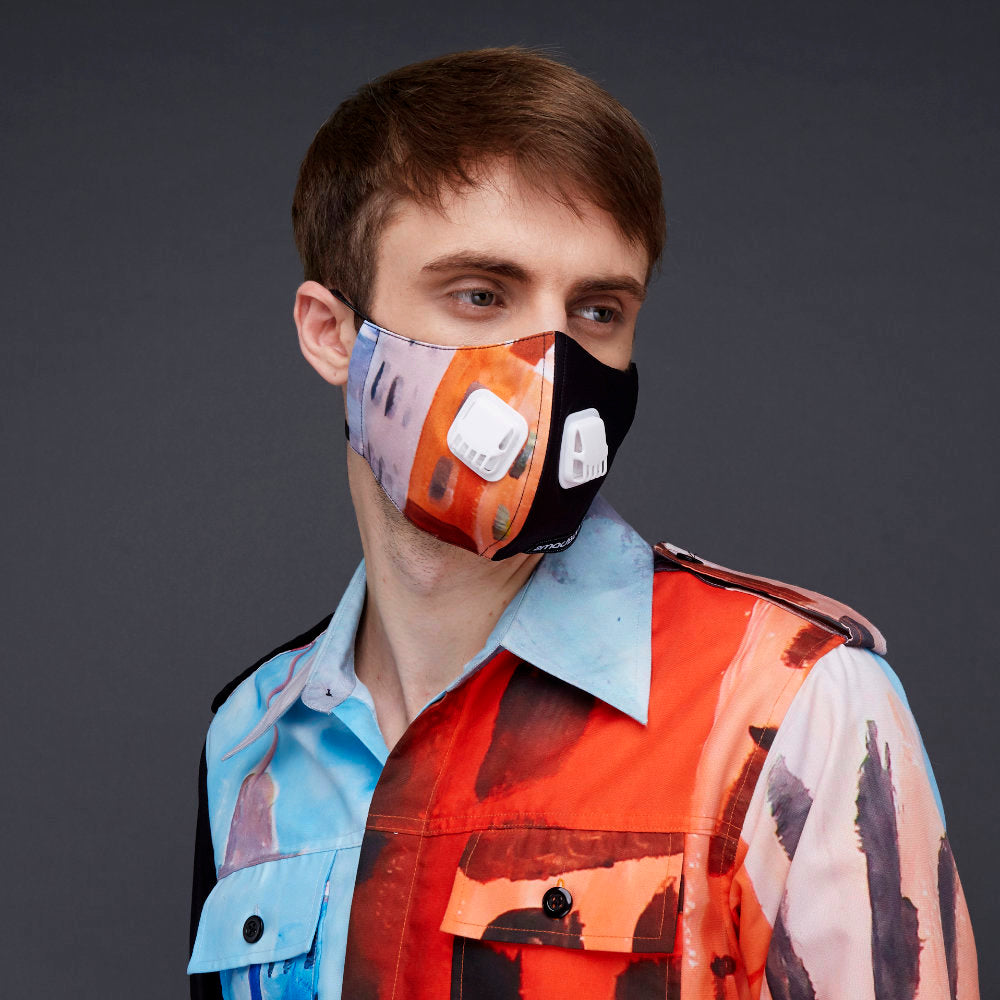 Downmidup Facemask With Air Valve-2MADISONAVENUE.COM