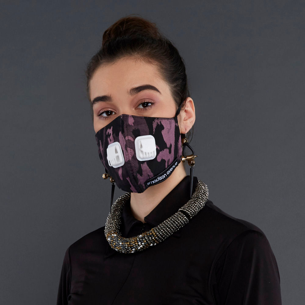Army Pink Facemask With Air Valve (4418794127383)