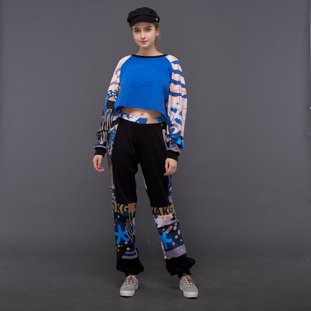Billy Sweatpants With Liga in Deep Blue (4854014410775)
