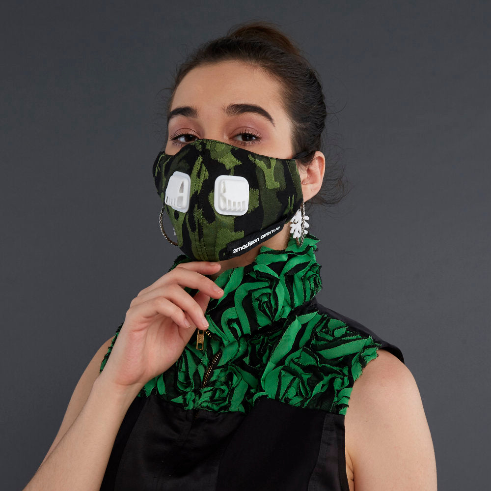 Army Green Facemask With Air Valve (4418791178263)