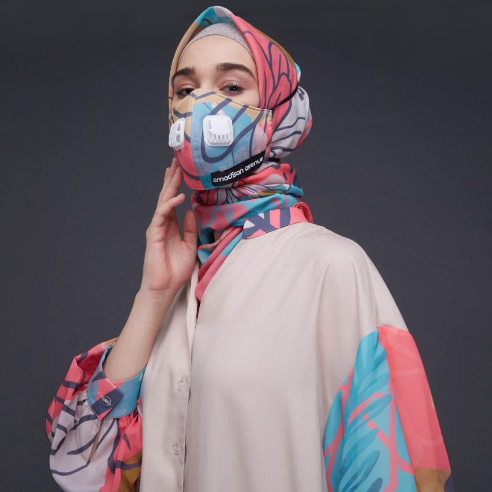 2Madinah My journey Facemask in Pink-2MADISONAVENUE.COM