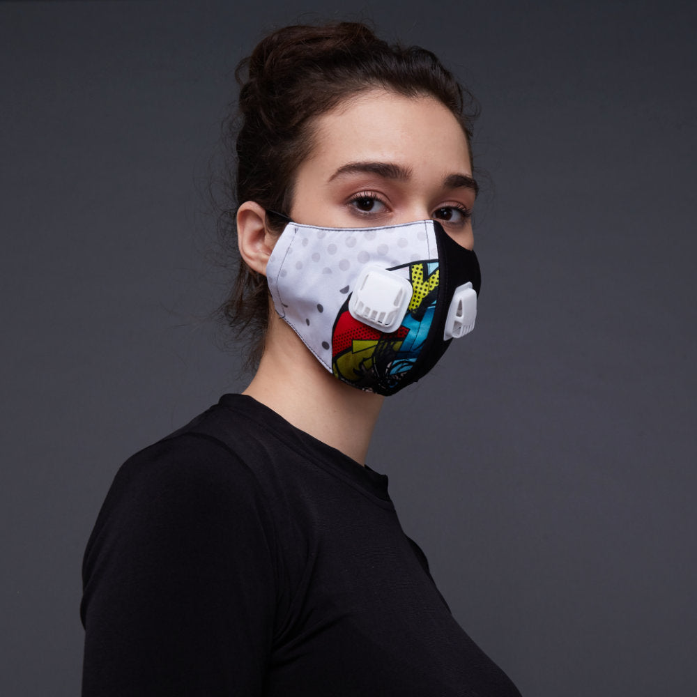 Polka Small Facemask With Air Valve