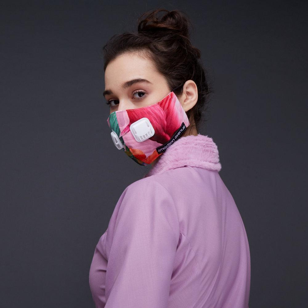 Miami Pink Premium Facemask With Air Valve