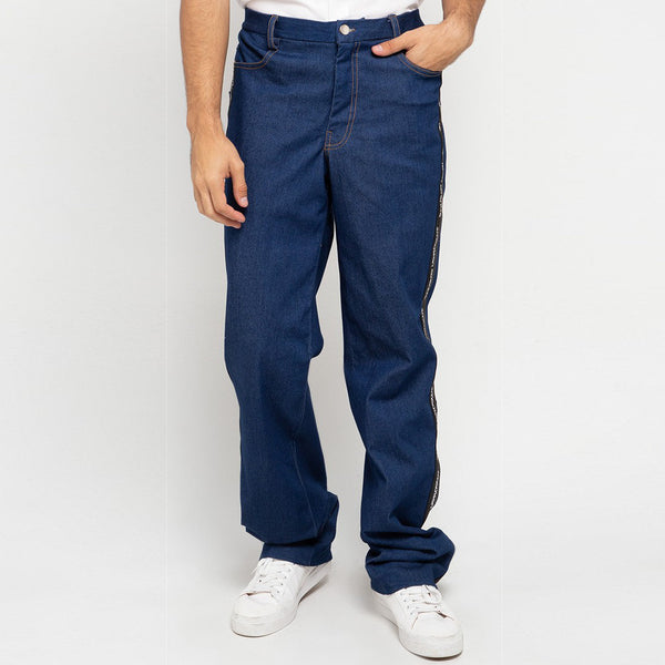 R&B Signature Denim Pants With Ribbon