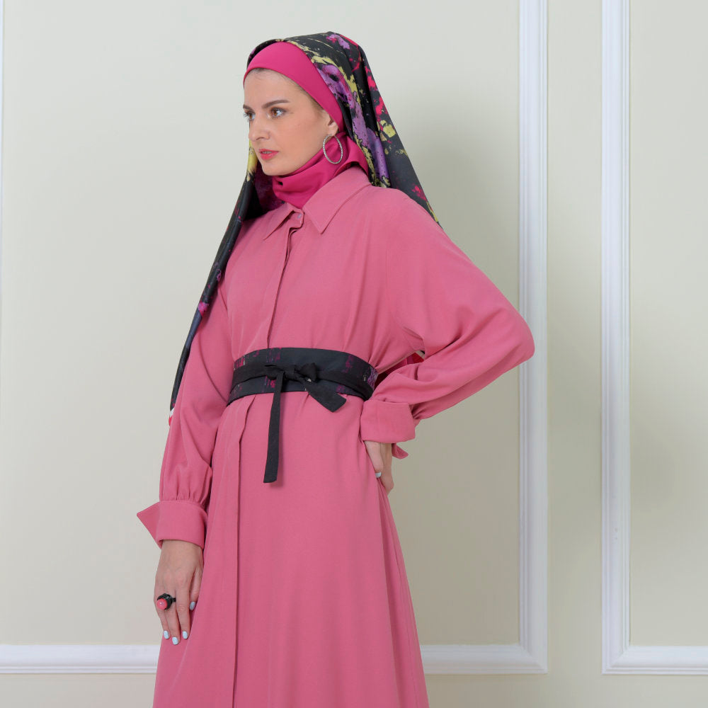 2Madinah Basic Long Dress Pink (6546989482007)