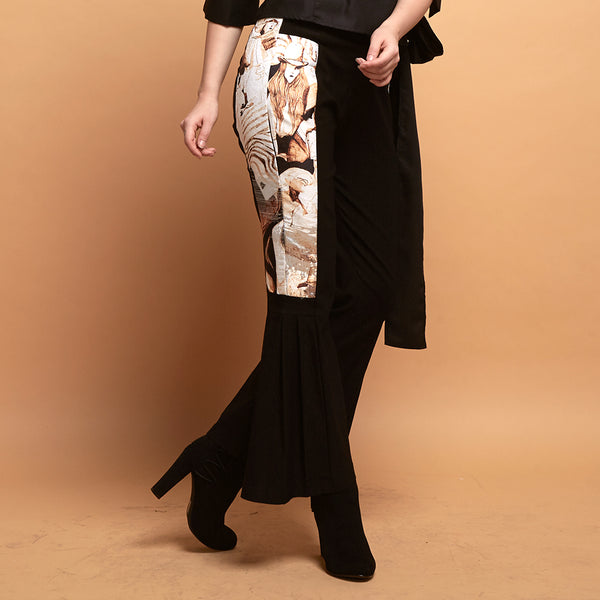 Lydia Pants With Parisian Print-2Madison Avenue Indonesia