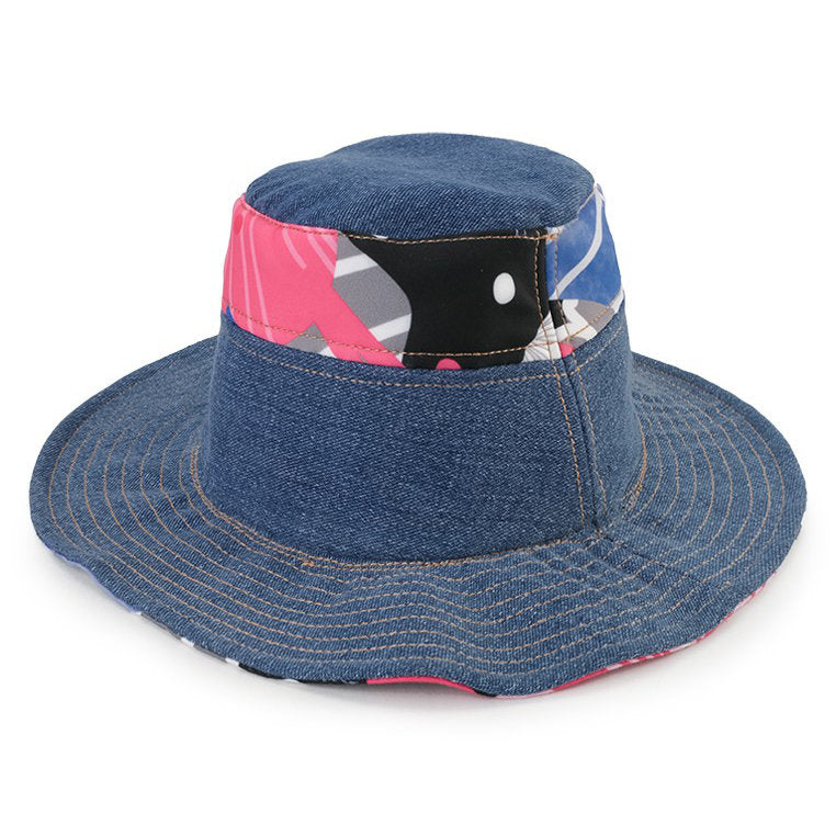 Bucket Hat Recharging Blue-2MADISONAVENUE.COM