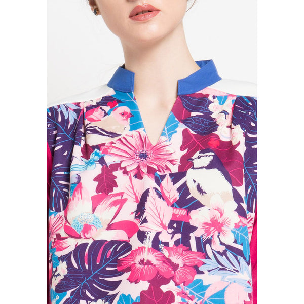 Fancy Blouse Paradiso With Collar-2MADISONAVENUE.COM