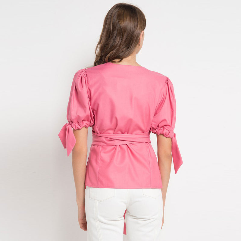 Kimono Blouse Miami with Baby Pink-2Madison Avenue Indonesia