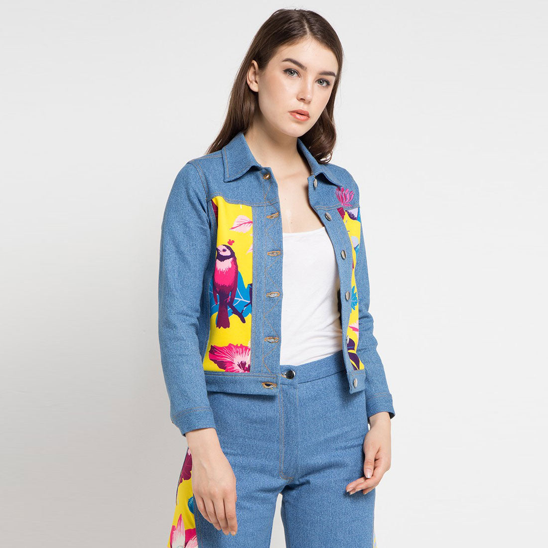 Fancy Denim Jacket with Flower From The East Art-2Madison Avenue Indonesia