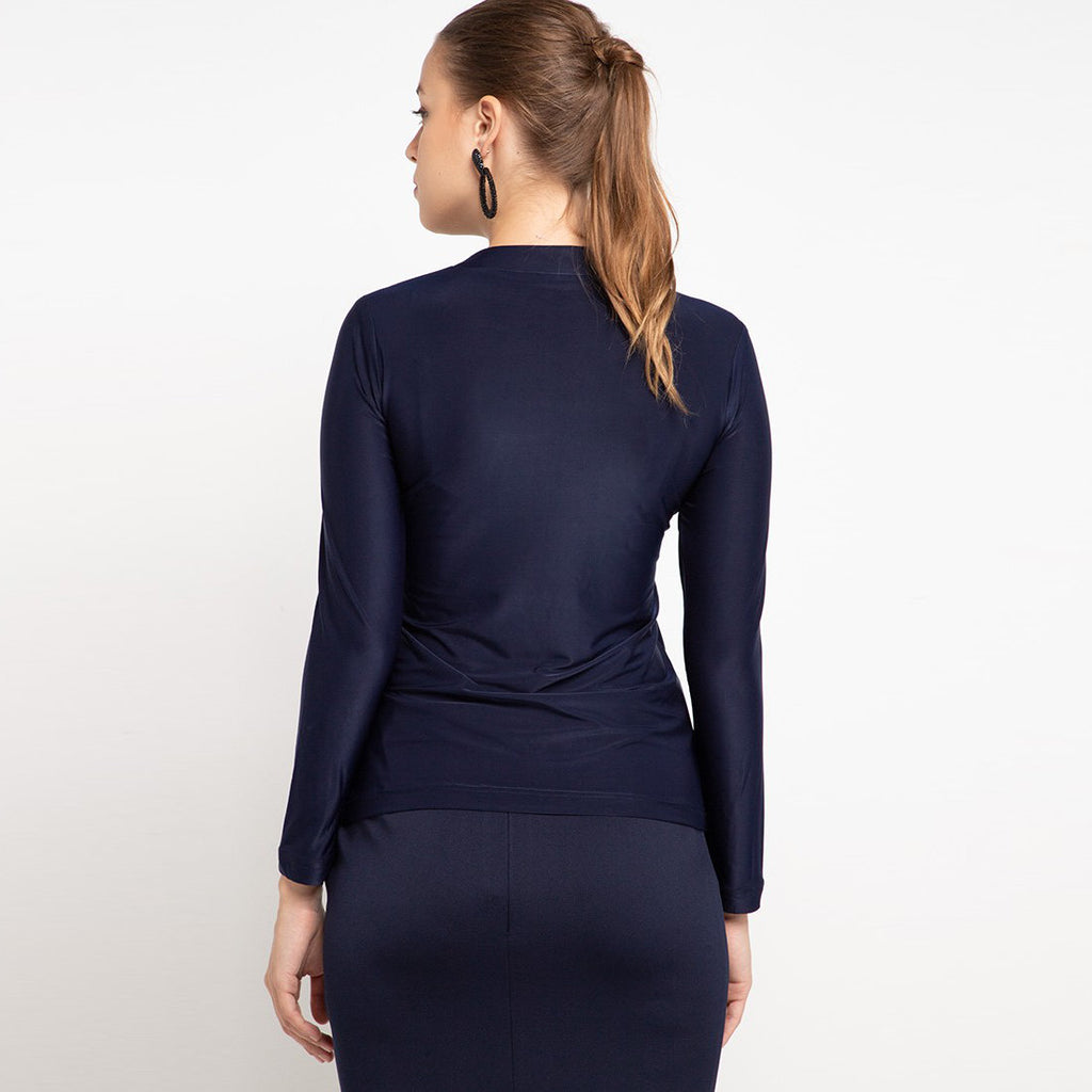 Go Green Woman Shirt in Navy With Segitiga Biru-2MADISONAVENUE.COM (4327978139671)