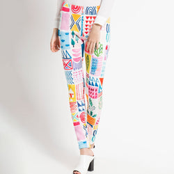 Fancy Legging with Neighborhood Art-2MADISONAVENUE.COM
