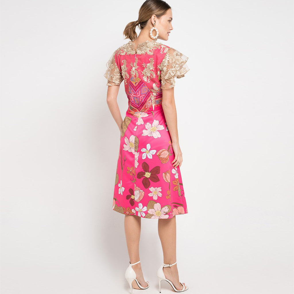 Helena Dress In Surprise Sunrise Pink-2MADISONAVENUE.COM