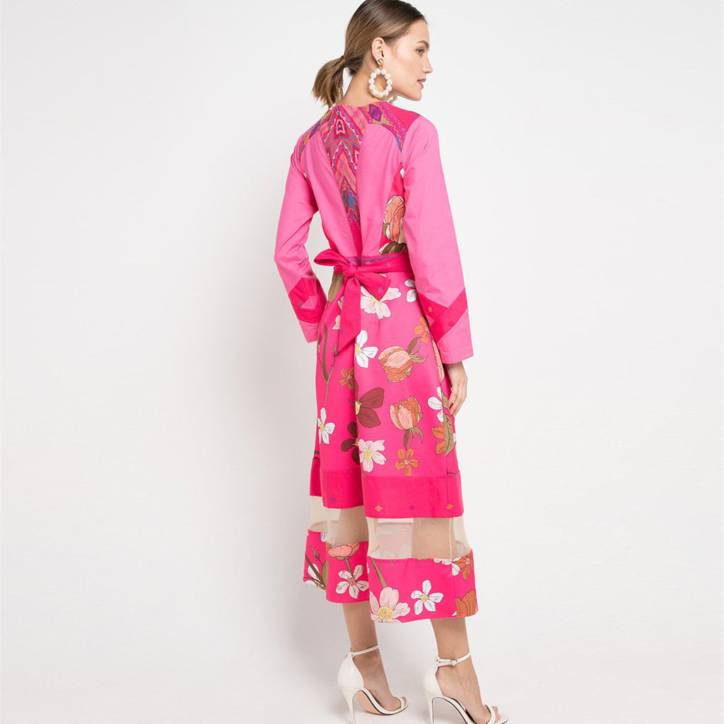 Gwyneth Long Dress in pink Surprise Sunrise Modest Edition-2MADISONAVENUE.COM