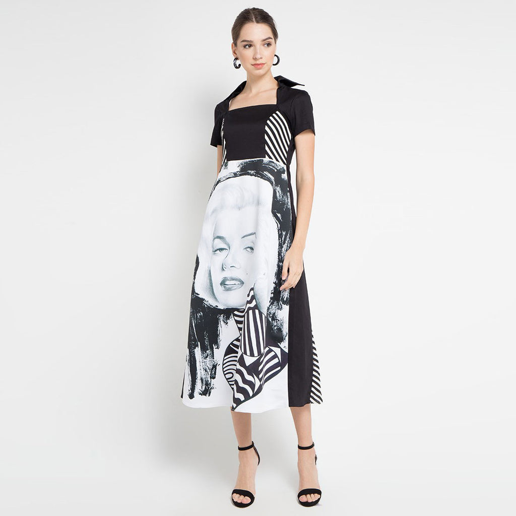 The Marilyn Dress in Black-2MADISONAVENUE.COM