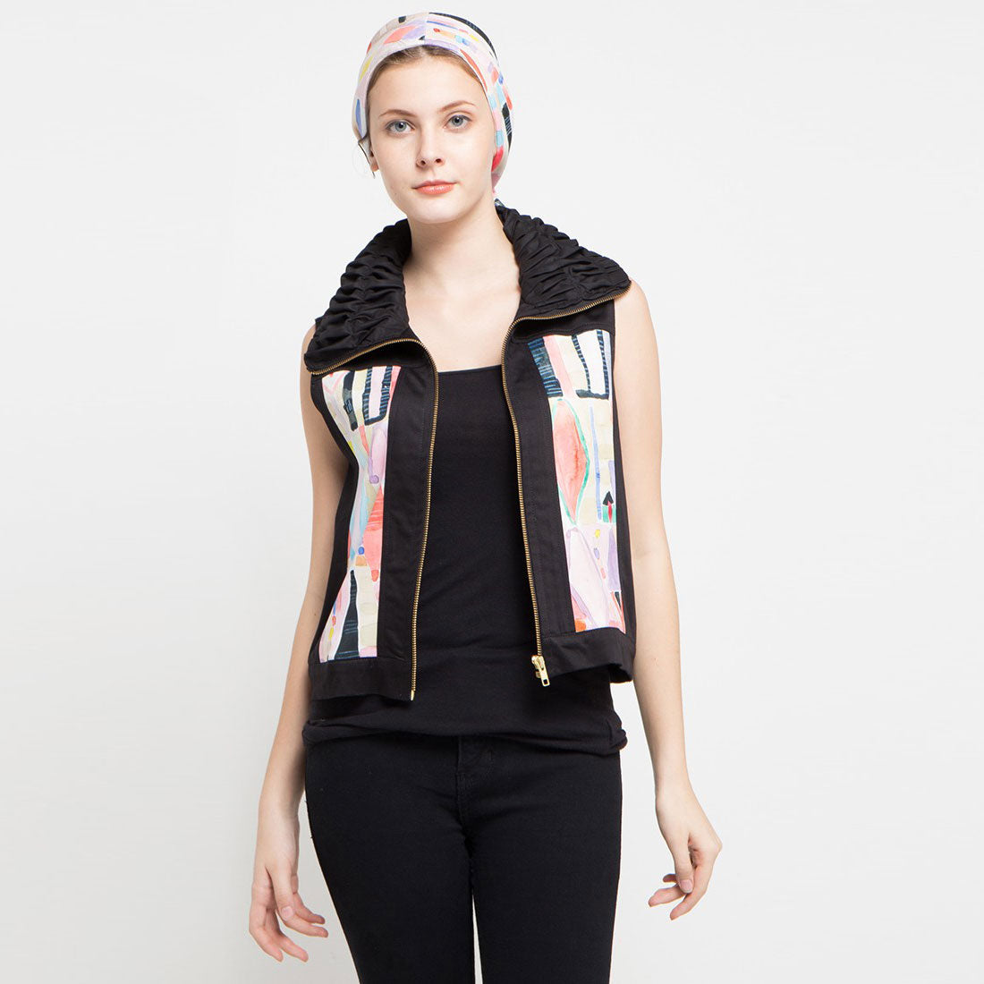 Boho Chic Vest with Abstraction Art-2Madison Avenue Indonesia