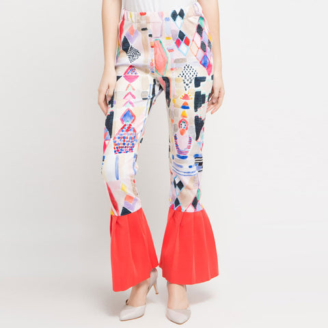 Abstraction with Peek a Boo Long Sleeve Blouse