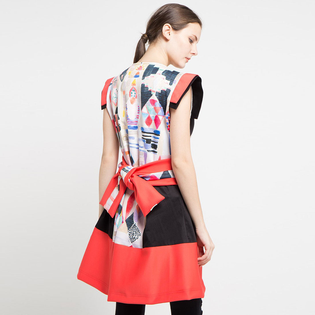 Fancy Long Outer with Abstraction-2Madison Avenue Indonesia