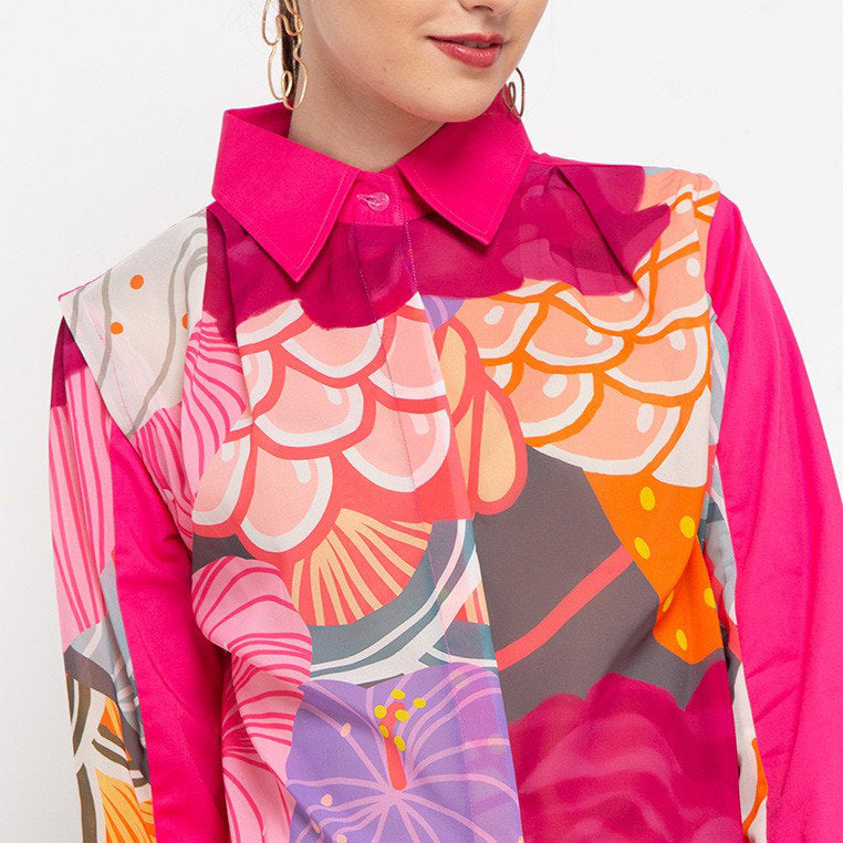 Ganger Shirt With Recharging Pink-2MADISONAVENUE.COM
