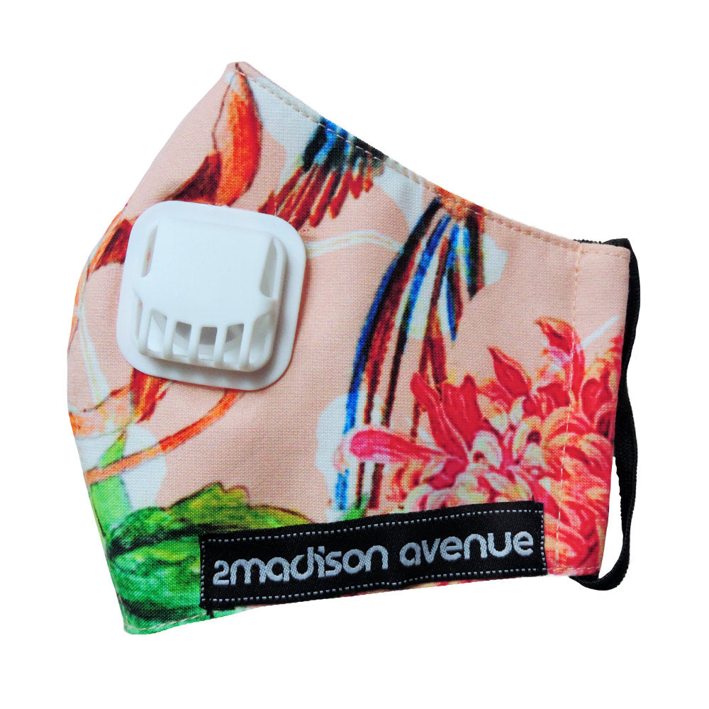 Paradiso Salmon Facemask With Air Valve