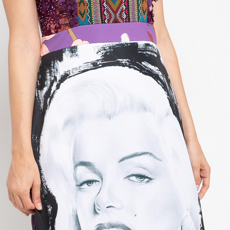 Marjorie Tango Dress With Marilyn Art Without Sequince-2MADISONAVENUE.COM