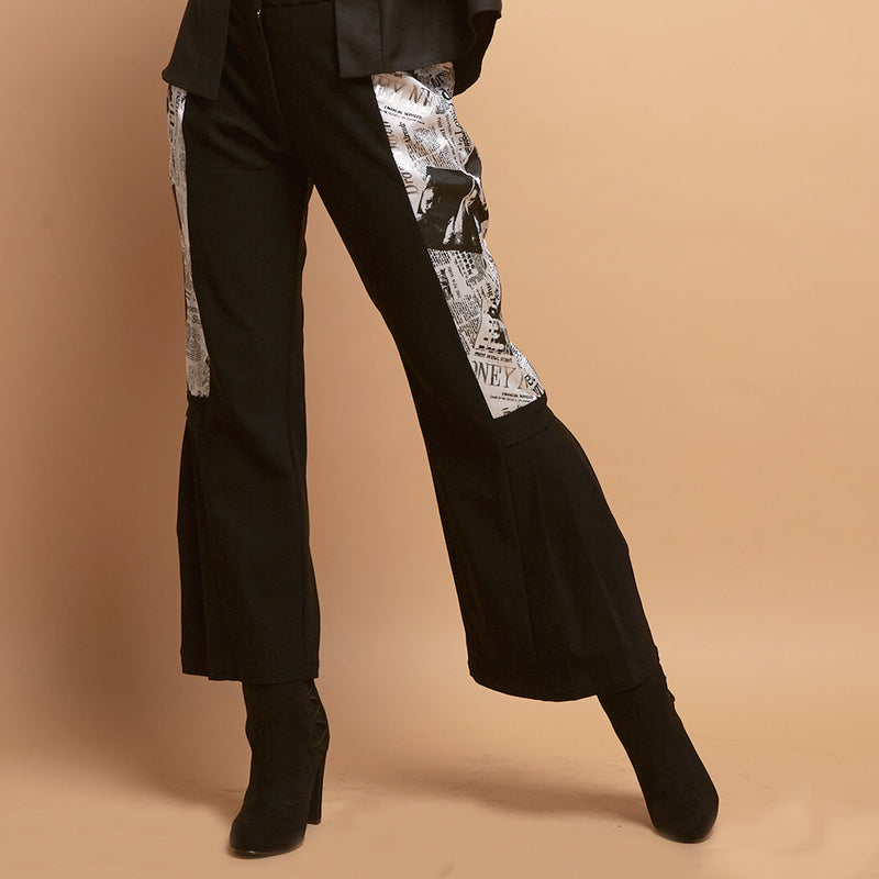 Lydia Pants With News Print-2Madison Avenue Indonesia