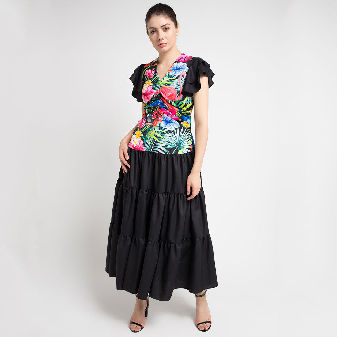 Lydia Long Dress in Black Bliss-2Madison Avenue Indonesia