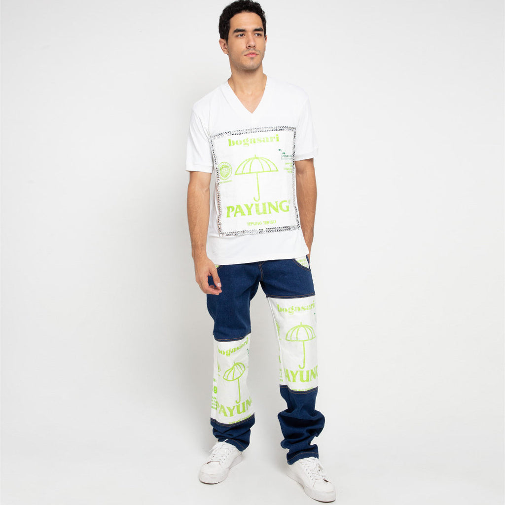 Go Green Man Shirt With Payung Short Sleeve-2MADISONAVENUE.COM (4333620363287)