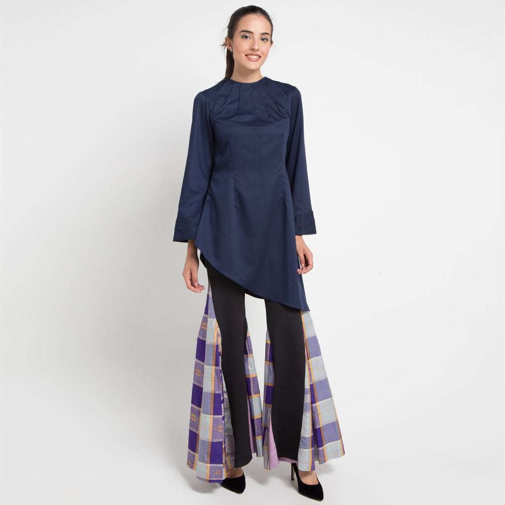 Mady Dress in Navy Blue-2MADISONAVENUE.COM (1817602719786)