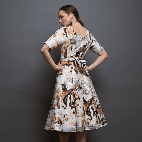 Margo Mid-Length Dress With Parisian Print-2Madison Avenue Indonesia