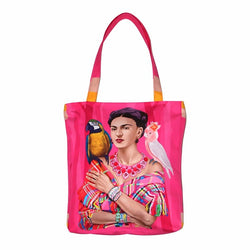 Frida Kahlo Pink Tote Bag-2MADISONAVENUE.COM