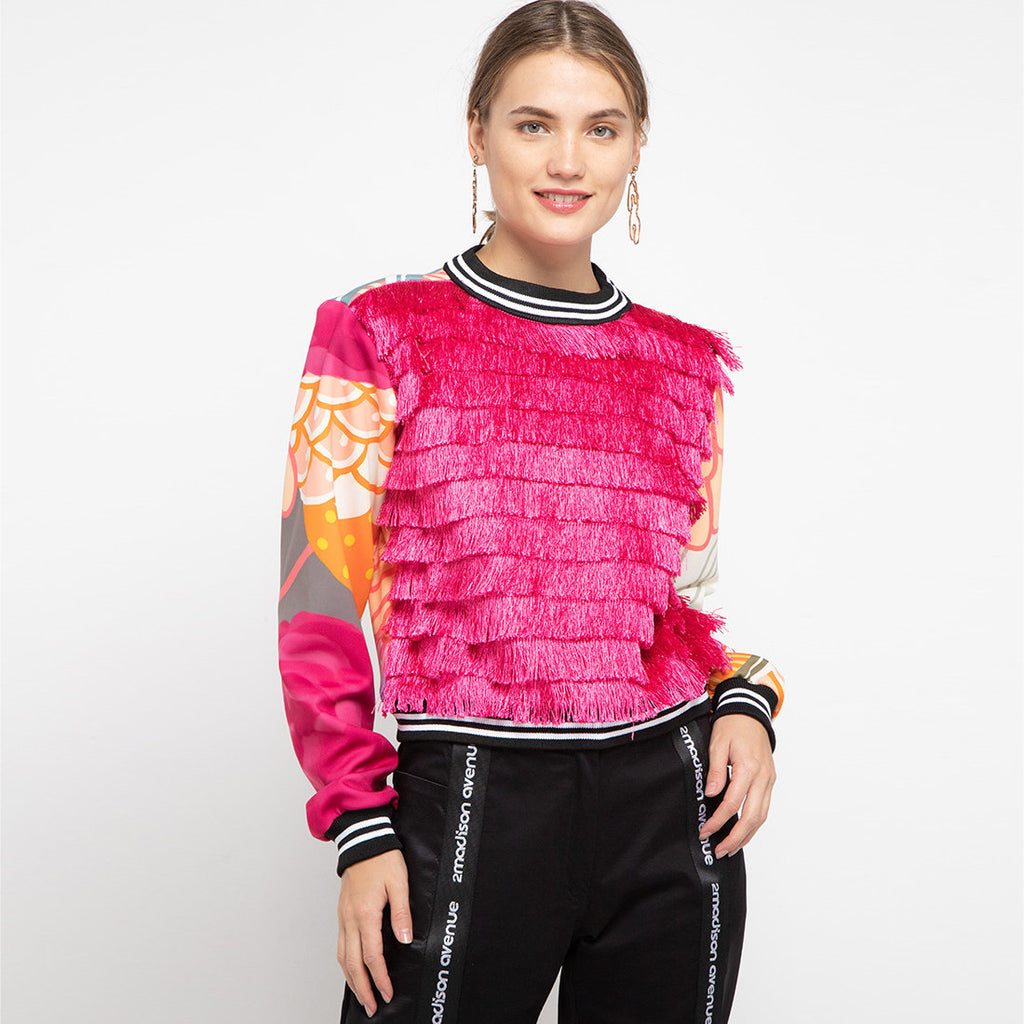 Pullover Jacket With Recharging in Pink-2MADISONAVENUE.COM (4323654074391)