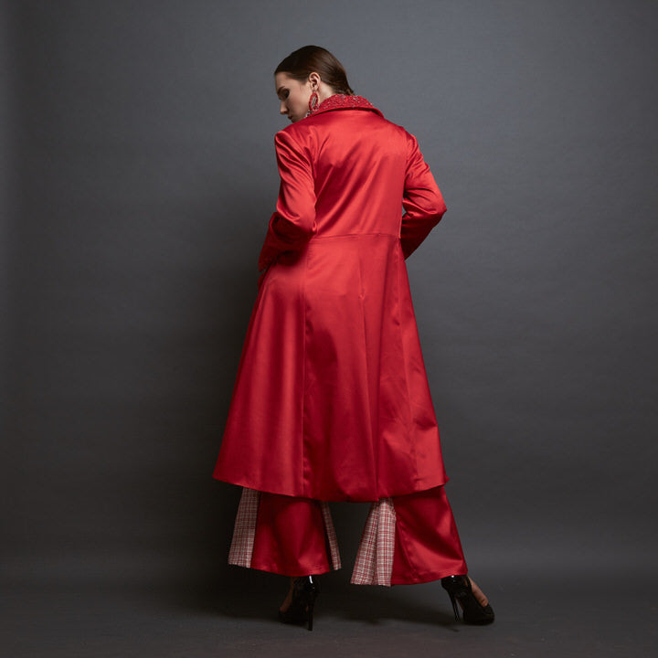 Signature Bell Bottom in Red-2MADISONAVENUE.COM (1627676639274)
