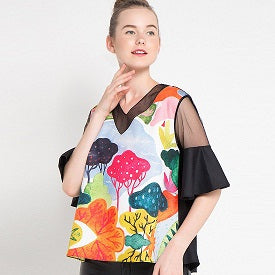 Fancy Blouse With Woods Art-2Madison Avenue Indonesia