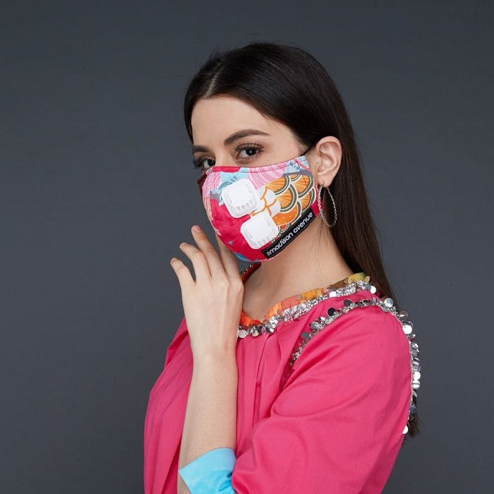 Premium Recharging Jean Facemask With Air Valve