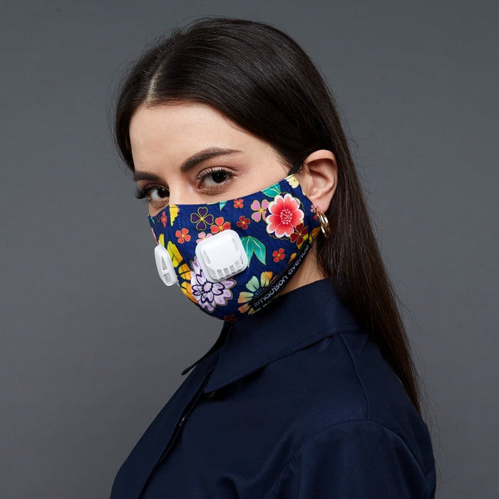 Orbital Floral Facemask With Air Valve (4452836474903)