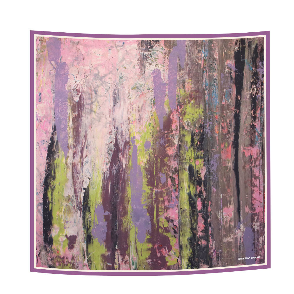 Abstract Pink Reminiscence Scarf (6545127473175)