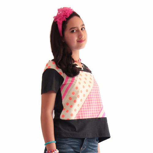 Avenue Kids Fancy Top with Patch #1-2Madison Avenue Indonesia